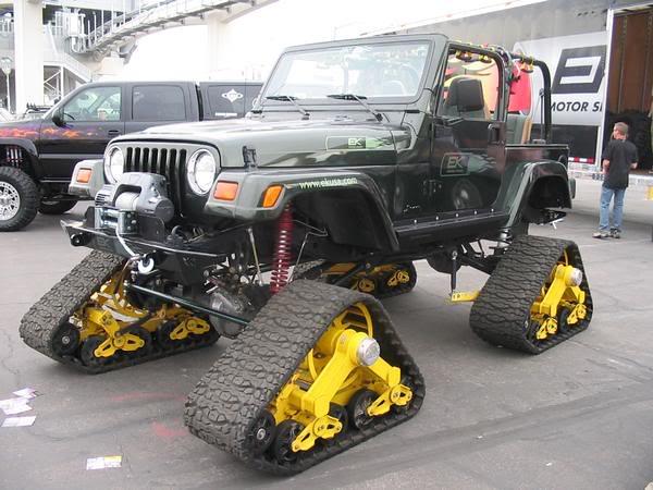 Jeep Wrangler Tj On Mattracks Mattracks Are Add On