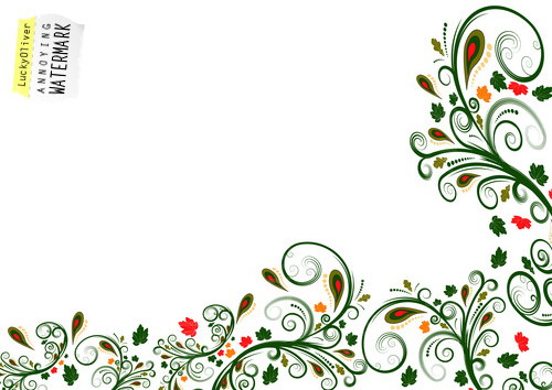 Vector Floral Border Design Trendy