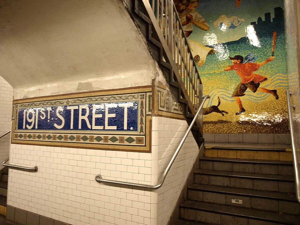 191 Street Subway Station Washington Heights New York Ci