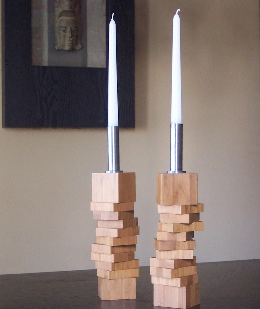 square modern bamboo candle holders  badabing badaboom …  flickr -