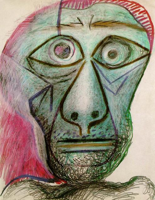 Picasso Portrait Picasso Self Portrait 1972