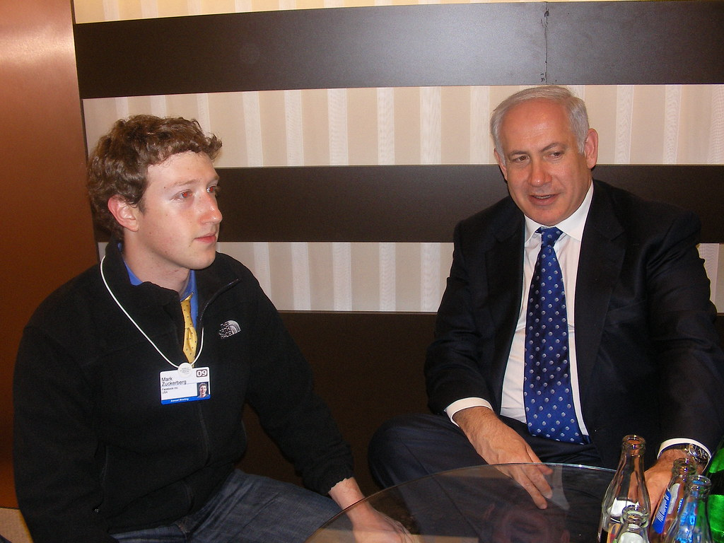 PM Netanyahu and Zuckerberg facebook founder | noncommercial… | Flickr