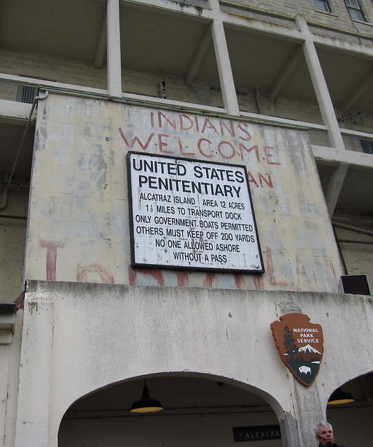 Sign at the Alcatraz Entrance | The first sign you read when