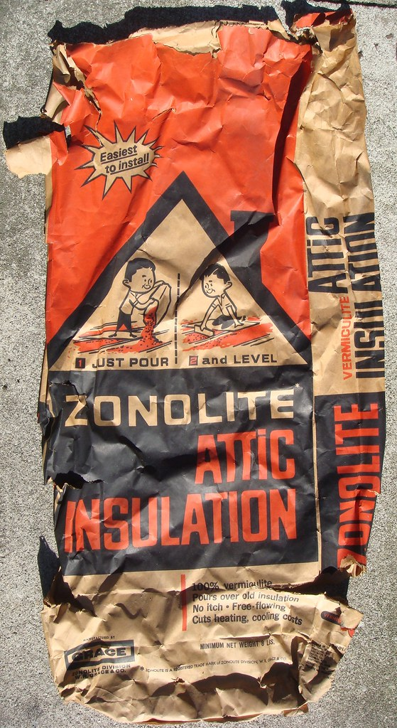 Zonolite Vermiculite Attic Insulation Bag A Used Empty