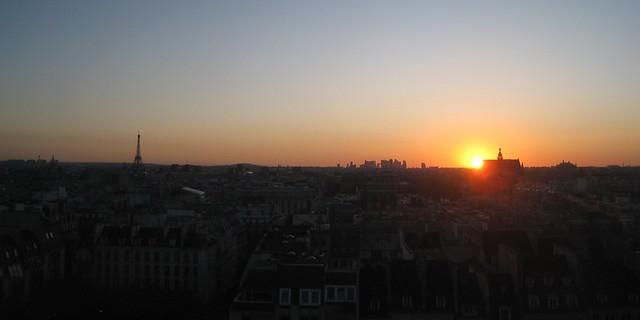 Coucher de soleil sur paris flickr photo sharing - Coucher de soleil sur paris ...