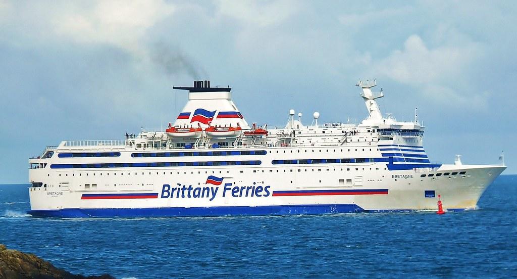 Mv Bretagne Brittany Ferries Off St Malo Brittany Fran