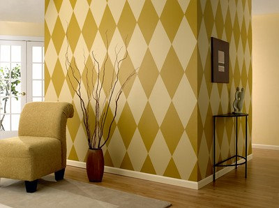 Diamond Pattern Accent Wall For Painting Tutorials