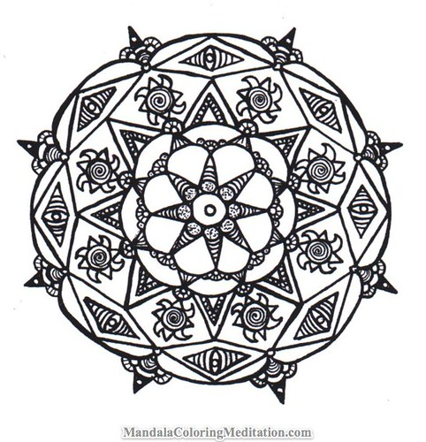 mandala coloring page a handmade black white mandala flickr. Black Bedroom Furniture Sets. Home Design Ideas