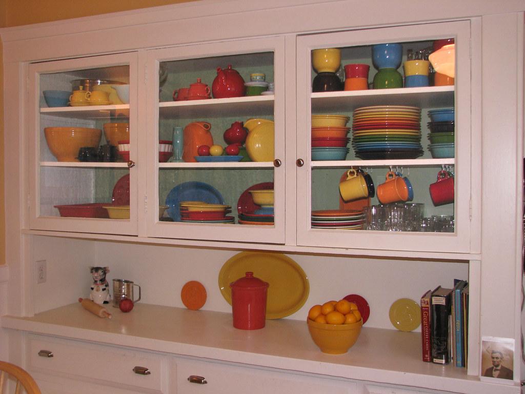 Kitchen Cabinet With Fiestaware