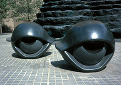 Bourgeois, Louise (1911- ) - 1996-97 Eye Benches I, II, III (black Zimbabwe granite) | by RasMarley