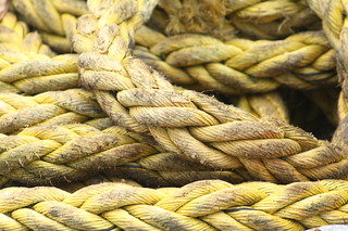 Portpatrick yellow ropes | by jillyspoon