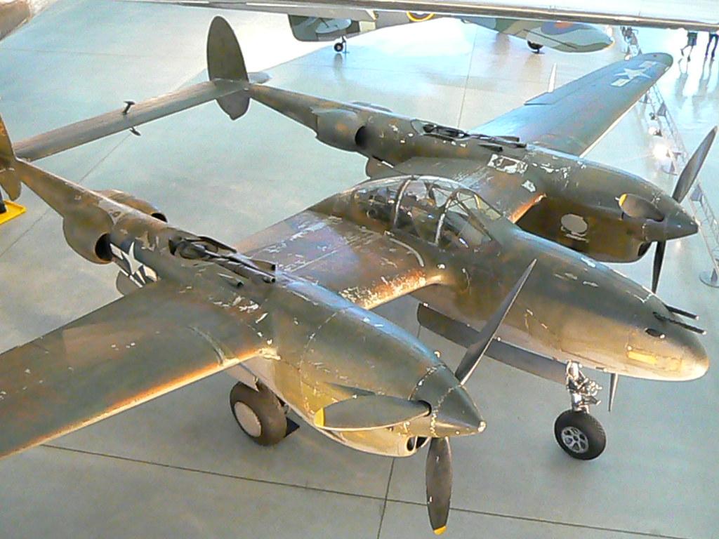Lockheed P 38 Lightning Fighter In Museum Lockheed P 38