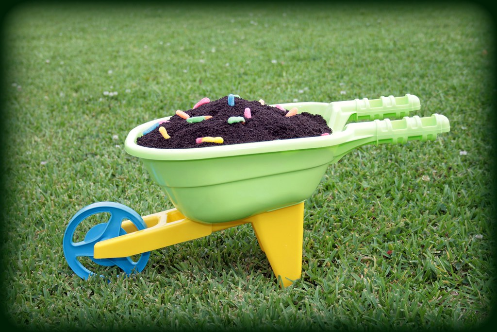 Dirt Cake And Gummy Worms In A Wheel Barrow This Is A
