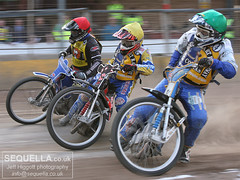 Dean Felton (r), Ben Morley (y) and Rob Smith (g)