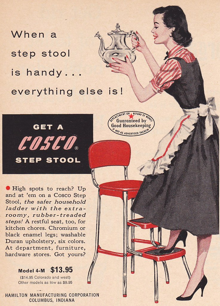 Cosco Step Stool Ad 1957 Scanned From Better Homes And
