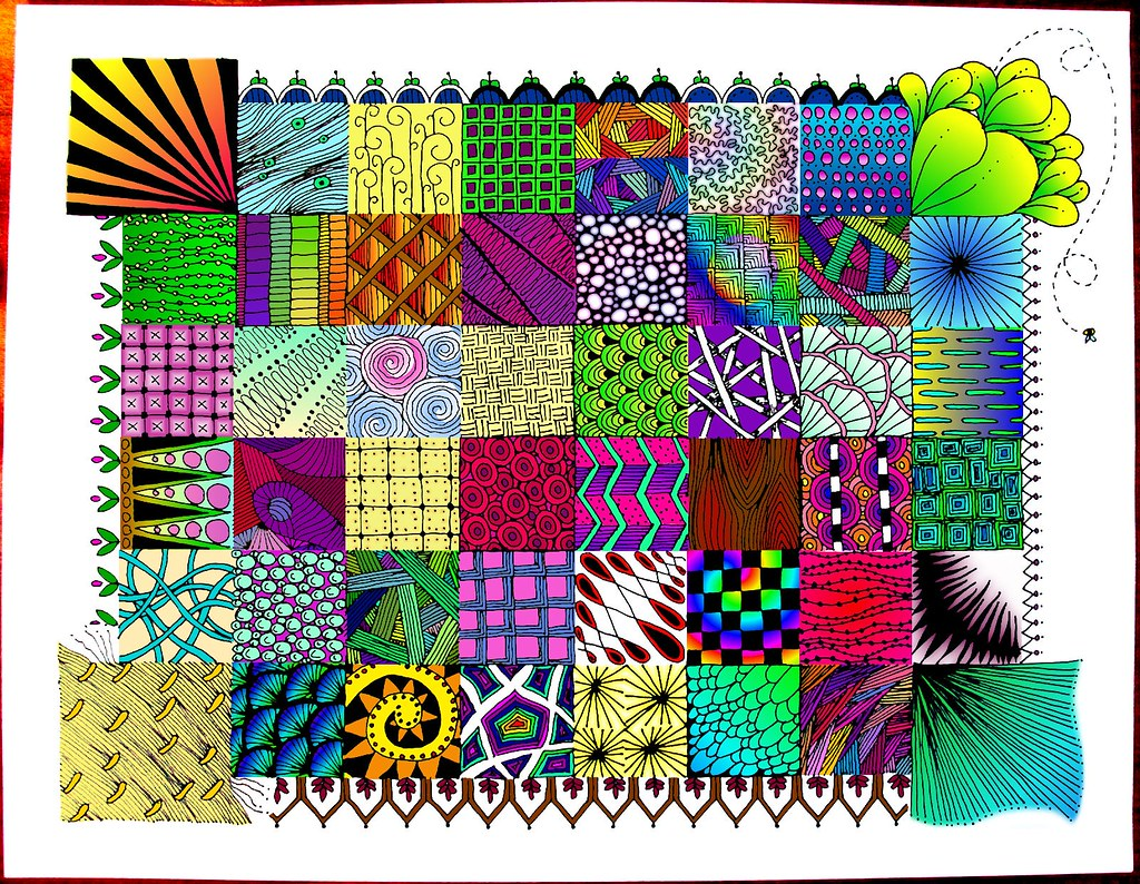 zentangle quilt | This is a batch of zentangle patterns ...