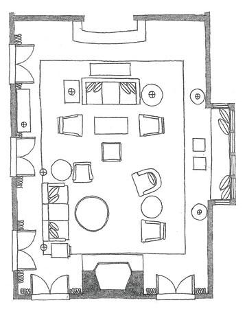 Living Room Salon Floor Plan La Vie En Persimmon Flickr