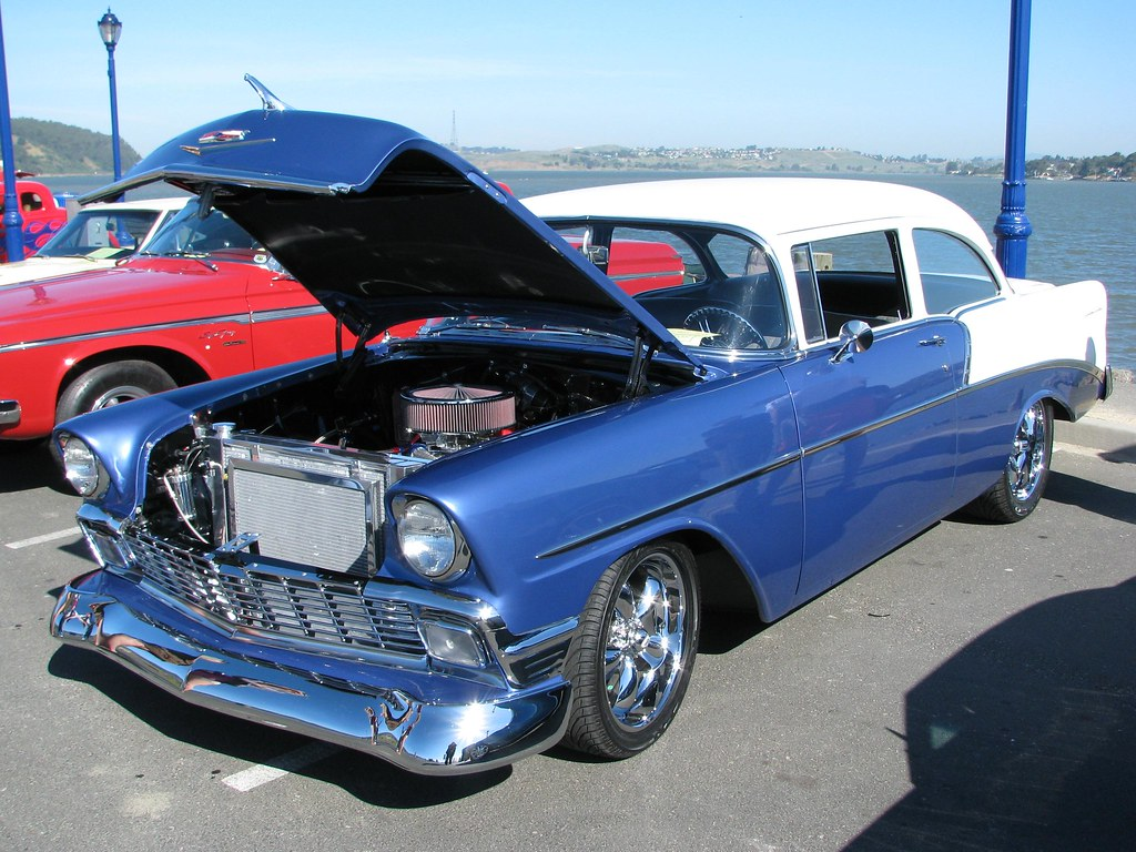 1956 chevrolet 2 door sedan custom 39 4lrs956 39 1 for 1956 chevy 4 door sedan