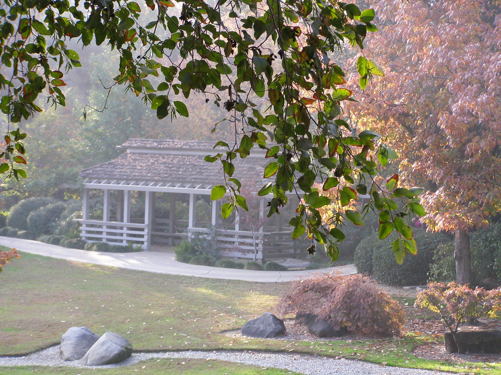 Canopy Pavilion Shinzen Japanese Gardens At Woodward Park Flickr