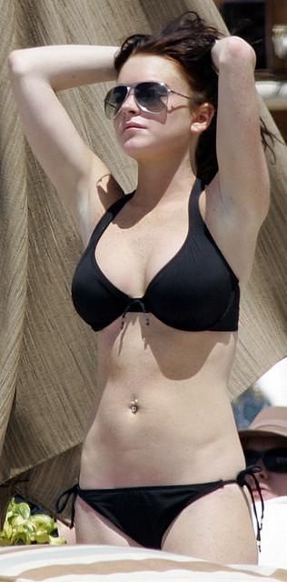 Lindzie lohan in a bikini