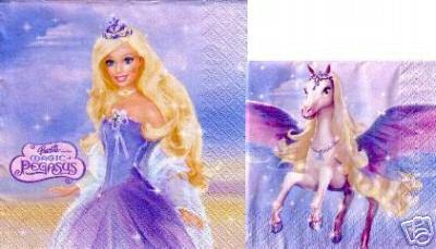 Barbie Pegasus Serviette En Papier Barbie Princesse Disney