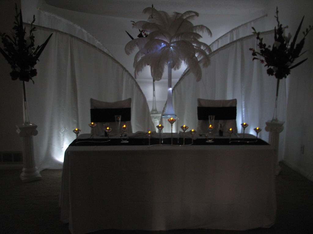 Bride and Groom Table Decoration Ideas | Add a low light