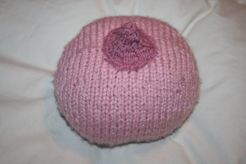 Knitted Boob Pattern : Knitted breast IV Combination of two patterns, this one fo? Flickr