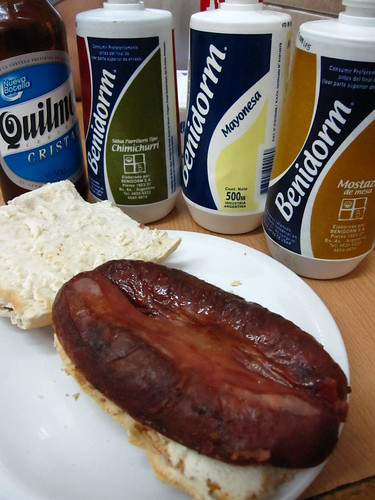 choripan,Quilmes and condiments | by SeppySills