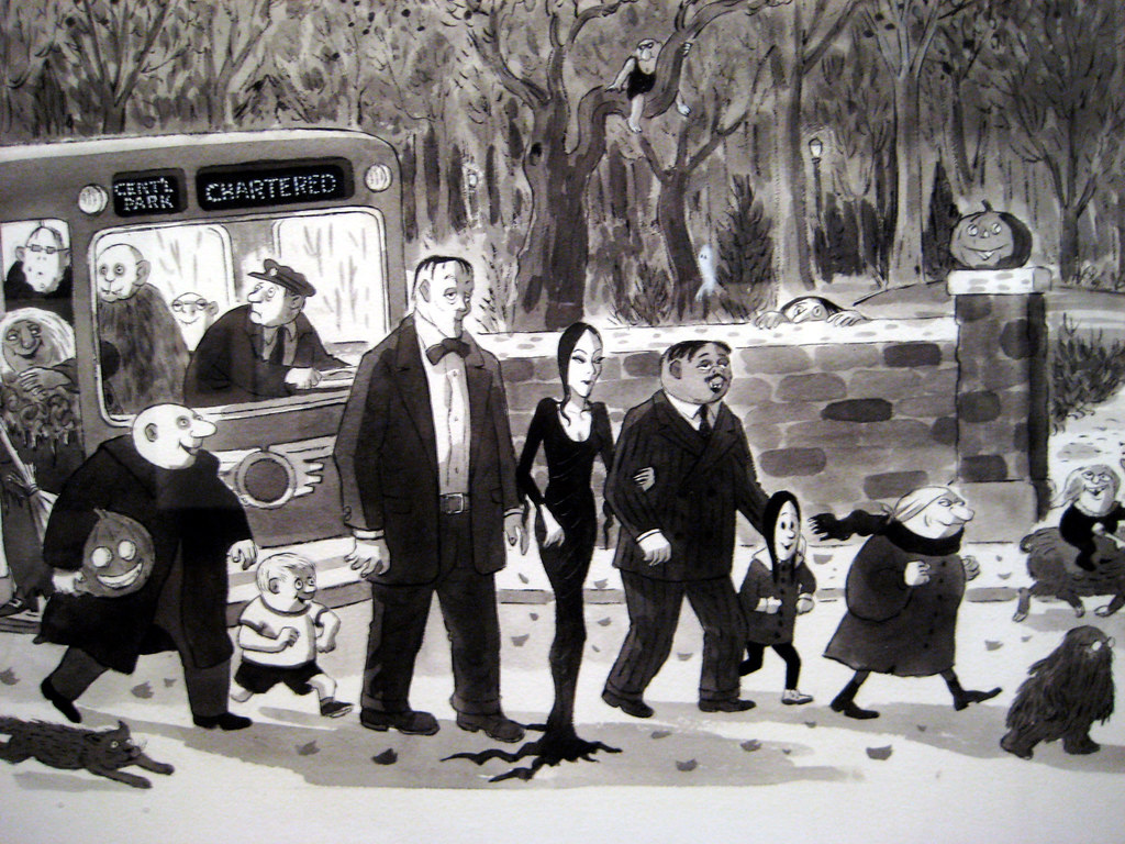 Addams Family Show Cartoon Of Bus At Halloween 1240 Flickr
