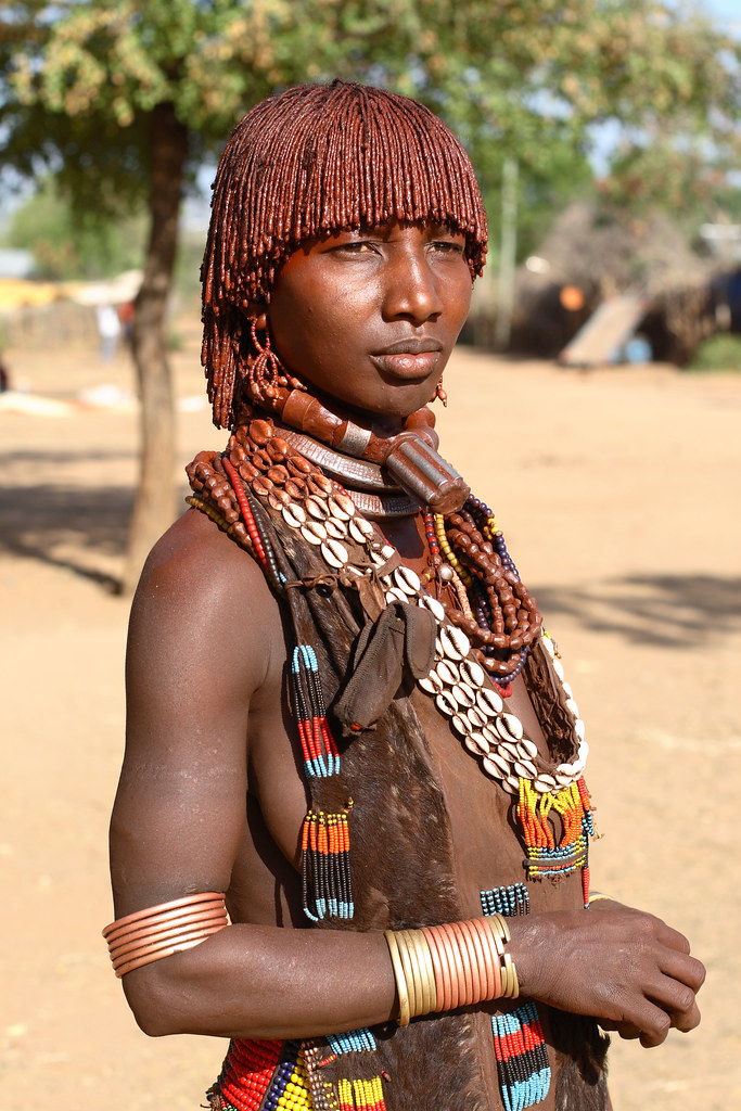 Ethiopia, Hamer Woman  Ethiopia, A Woman From The Hamer Tri  Flickr-3353