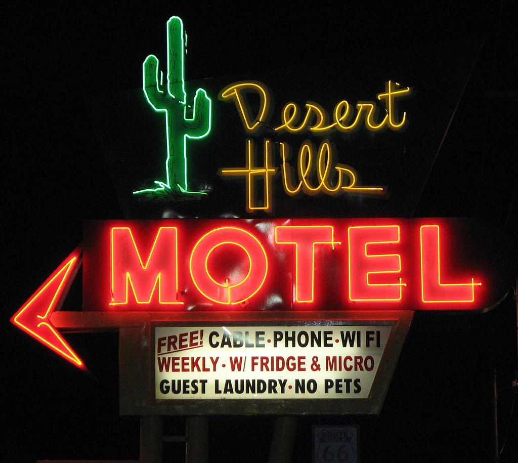 Desert Hills Motel Neon Sign