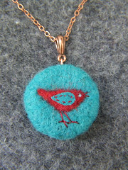 Little Bird Felted Pendant | by fibrespace