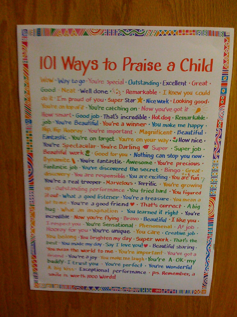 101 ways to praise a child wesley fryer flickr