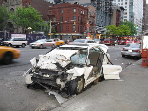 Car Wreck on 2nd Avenue | by Marianne O'Leary