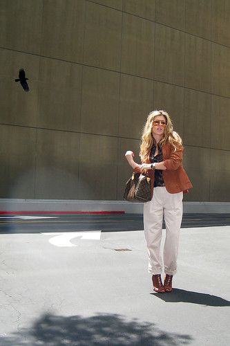 70's+Rust Blazer+Louis Vuitton Bag+Blond waves | by ...love Maegan