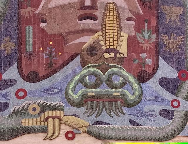 Mural facultad de medicina el agua esta representada en for Mural z papiezem franciszkiem