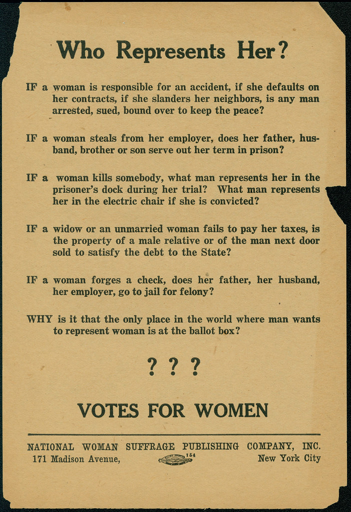 womens suffrage flyer  ca  1916