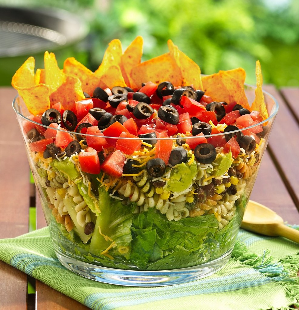 Layered Mexican Party Salad 1 Box Betty Crocker
