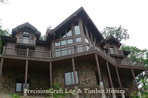North Carolina Log Home Custom Design Precisioncraft L