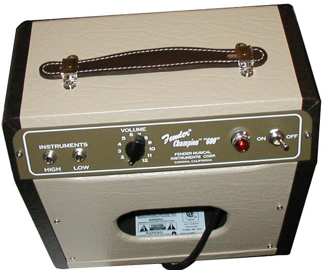 champ 600 small fender tube amp top view helmut doork flickr. Black Bedroom Furniture Sets. Home Design Ideas