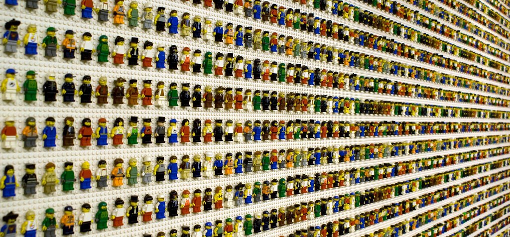 Lego Wall Of Lego Figures Close Up Of Lego Bricks Taken