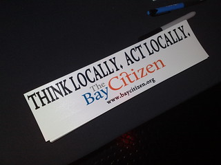 Pile of The Bay Citizen bumper stickers | by allaboutgeorge