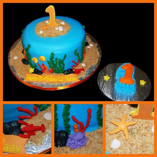 1st Birthday Ocean Themed Cake And Smash Cake