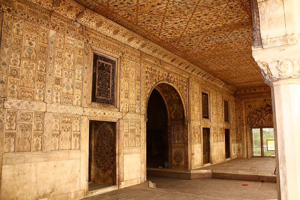 Khas Mahal Inside The Red Fort In Delhi India