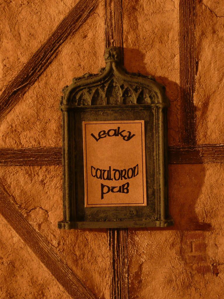 Leaky Cauldron Sign Harry Potter Decided To Take