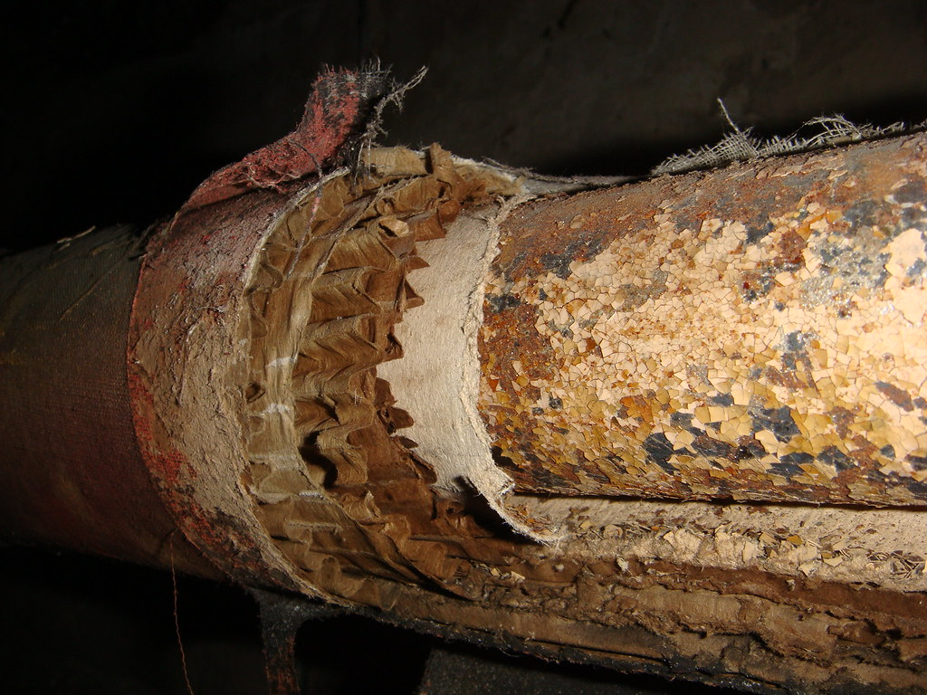 Asbestos Pipe Insulation Inner Layer Example Of An