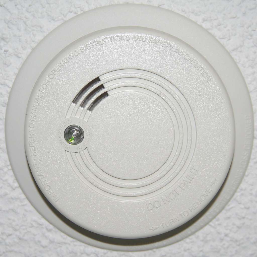 Smoke Detector In Dining Room Thats Open Plan