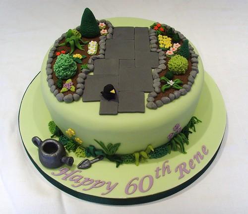 60th birthday gardening themed cake flickr photo sharing for Gardening 60th birthday gifts