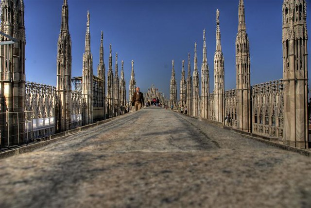 Terrazze Del Duomo Milano Italy Don T Use This Image On