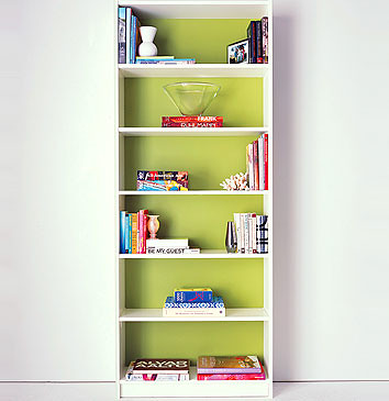 billy bookcase yellow  2